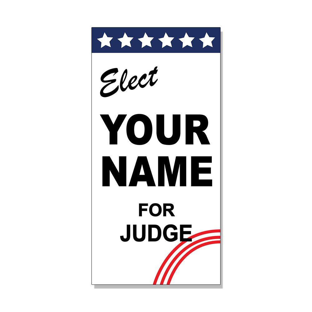 Amazon com elect your name for judge custom red black custom decal sticker store sign sticks to any surface office products
