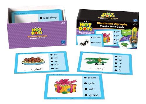 Educational Insights Hot Dots Phonics Flash Cards- Blends & Digraphs