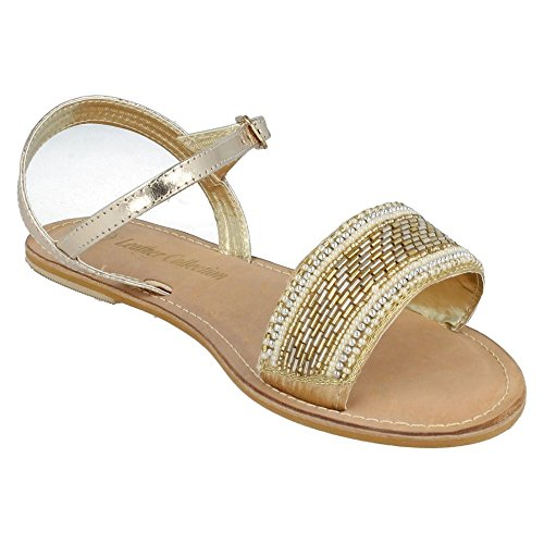 Or perles Leather Femme ornées On Sandales Spot de UB0PFUv