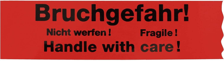 """Handle with Care!/"""" Nicht werfen! Fragile 12 x Klebeband /""""Bruchgefahr"""