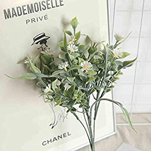 Blingdots Hanging Eucalyptus Leaves Greenery Garland for Wedding Backdrop Arch Wall Decor, Indoor Outdoor Artificial Silk Chrysanthemum Daisy Flower Bouquet Table Wedding Party Decor DIY 3