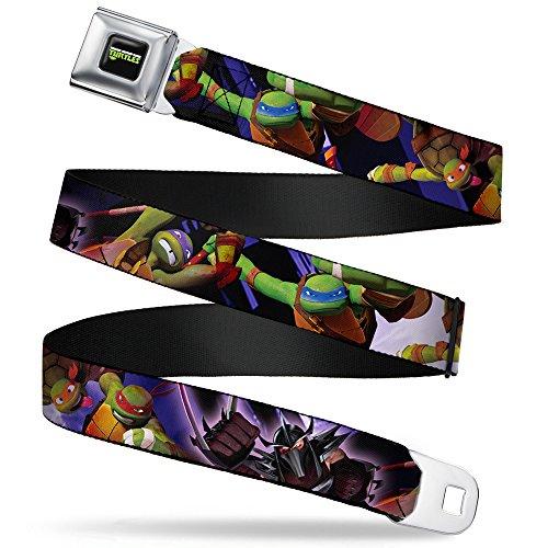 - Buckle-Down Seatbelt Belt - New Series TMNT Turtles & Shredder Action - 1.5