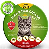 NEW 2018 Flea Collar For Cats 8 Months Protection Vet Recommended Hypoallergenic Waterproof  - Adjustable Flea and Tick Prevention for Cats - Natural Prevention From Fleas Ticks Larvae Treatment
