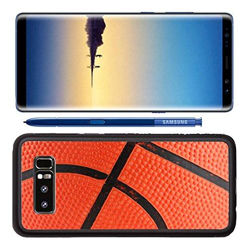 Luxlady Premium Samsung Galaxy Note8 Aluminum Backplate Bumper Snap Case Orange rubber basketball macro background IMAGE ID 3285337
