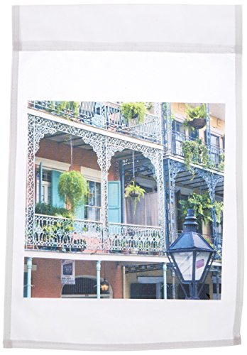 - 3dRose fl_90472_1 Louisiana New Orleans French Quarter US19 Rti0002 Rob Tilley Garden Flag, 12 by 18-Inch