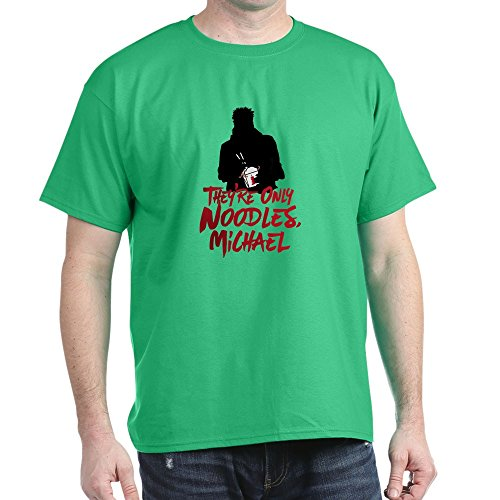 CafePress They're Only Noodles Michael 100% Cotton T-Shirt Kelly Green -