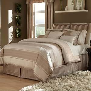 Amazon.com: VERATEX Hollistan Comforter Set, Queen, Taupe ...