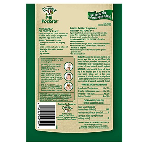 GREENIES PILL POCKETS Soft Dog Treats, Chicken, Capsule, 15.8 oz.