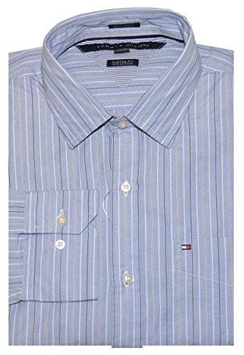 Tommy Hilfiger Men Custom Fit 80's 2 Ply Stripe Shirt