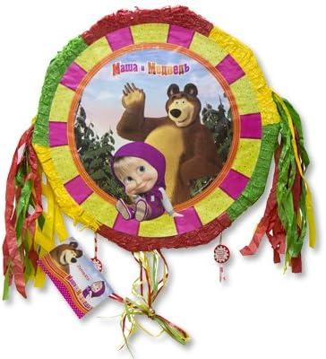 Amazon.com: [rustoyshop] Piñatas Masha y el Oso con lazos ...