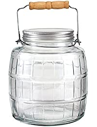 Acquisition Anchor Hocking 1 Gallon Glass Barrel Jar with Lid and Handle, Set of 2 deliver