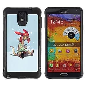 LASTONE PHONE CASE / Suave Silicona Caso Carcasa de Caucho Funda para Samsung Note 3 / Cartoon Character Anime Technology Big Ears