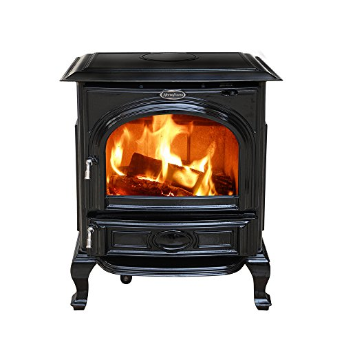 HiFlame 1,800 Square Feet cast iron wood burning stove HF...