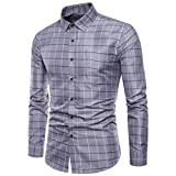 Ximandi Men's British Style Casual Long Sleeve Male Business Slim Fit Shirt 4XL
