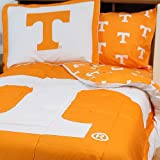 NCAA Tennessee Vols Queen Bed Set Orange Cotton Bedding