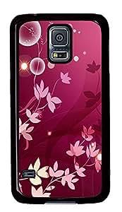 Samsung Galaxy S5 Purple Flowers Plant PC Custom Samsung Galaxy S5 Case Cover Black