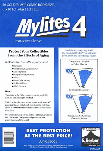 (Mylites 4 Golden Age Comic Book Mylar Sleeves 8