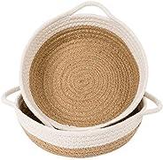Goodpick 2pack Cotton Rope Basket - Woven Storage Basket - 9.8