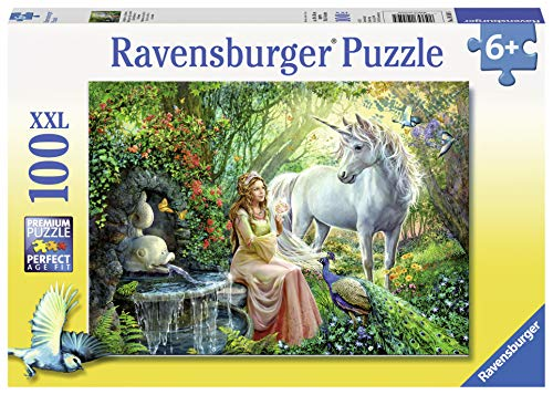 (Ravensburger Princess and Unicorn 100 Piece Jigsaw Puzzle for Kids - Every Piece is Unique, Pieces Fit Together Perfectly)