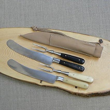 La edad media de cubiertos de cuchillo y tenedor de doble ...