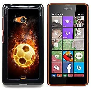 Flaming Soccer Football Ball Caja protectora de pl??stico duro Dise?¡Àado King Case For Microsoft Nokia Lumia 540 N540