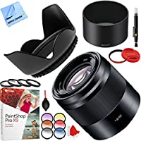Sony SEL50F18/B 50mm f/1.8 Mid-Range Prime E-Mount Lens with 49mm Filter Sets and Accessories Bundle