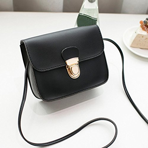 Small Bag Wristlet Crossbody Clutch Lock Cover Bag and Black Shoulder Adjustable Bags Spritumn Bag with Women Strap Fashion Color Phone Solid Long gqRwxTFAE