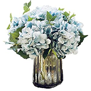 Anlise Artificial Hydrangea Flowers Fake California Hydrangea Silk Bouquet Flower for Home Wedding Decor, Pack of 4 5