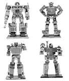 Fascinations Metal Earth Transformers 3D Metal Model Kits Set of 4 - Optimus Prime, Bumblebee, Soundwave and Megatron