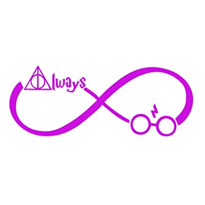 "CCI Always Harry Potter Infinity Decal Vinyl Sticker|Cars Trucks Vans Walls Laptop (Light Pink, 7.5""): Automotive"