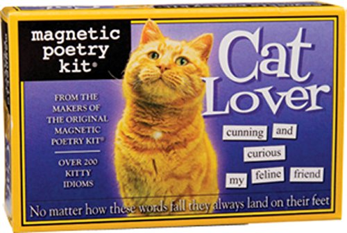 Magnetic Poetry - Cat Lover Kit - Words for Refrigerator - Write Poems and Letters on the Fridge - Made in the USA