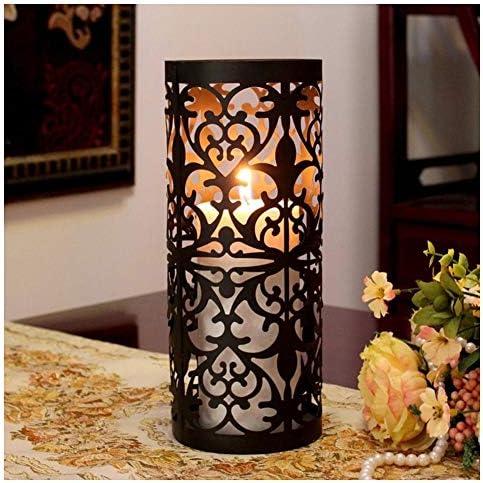 ZWJ-キャンドルスタンド ヨーロピアンスタイルの錬鉄製の燭台レトロダイニングテーブル装飾キャンドルライトキャンドルカップ