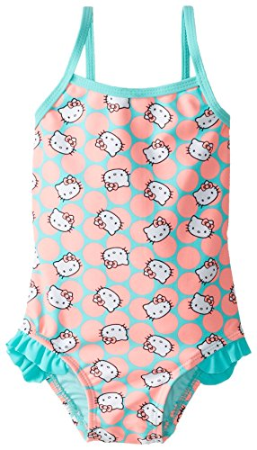 Hello Kitty Little Girls' Toddler Sweet Dreams One Piece, Coral, 2T