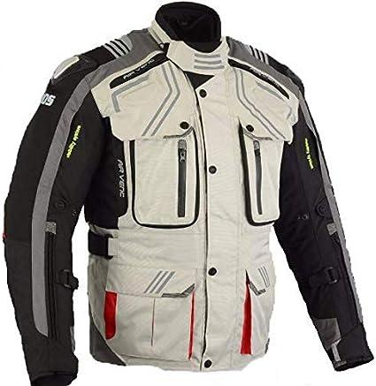 talla XL, Rojo Maro Chaqueta moto,cordura protecciones en codos hombros y espalda forro polar desmontable