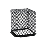 HY-C RVG1111G Galvanized Black Roof VentGuard with Wildlife Exclusion Screen, 11'' x 11'' x 13''