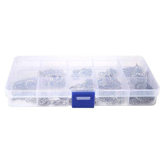 Geesatis 340 Pcs Internal Tooth Starlock/Washers Kit M 5 M8 M12 M10 Black M12 M6 Quick/Speed/Locking/Washers 7 Sizes Metal Steel/Speed/Clips/Fasteners/Assortment/Kit M3 M4