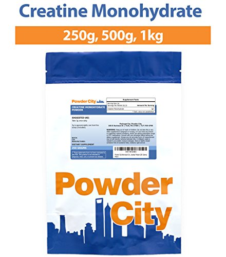 Powder City Micronized Creatine Monohydrate Powder (250 Grams)