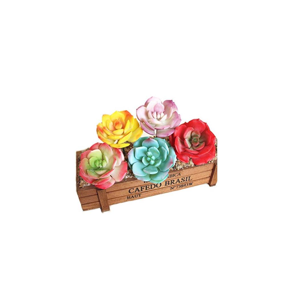 Artfen-Faux-Artificial-Snow-Rose-Succulent-Cactus-5-Pack-Realistic-Cute-Green-Home-Garden-Plants-Unpotted-24-Diameter