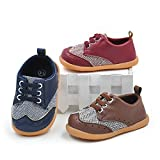QGAKAGO Baby Boys Or Girls PU Leather + Canvas