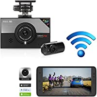 WINYCAM Car Dash Cam Dashboard Recorder Blackbox- Wi-Fi Easy Control, Real Time Playback, 2CH Full HD 135° Wide Angle, Format Free Memory(Max 128 GB), Night vision,G-Sensor, ADAS(Included 32G TF Card)