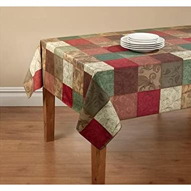 Mainstays Tuscany Kitchen Collection - Fabric Tablecloth with Table Protector (60 x 84)