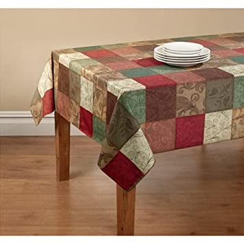 Attirant Amazon.com: Mainstays Tuscany Kitchen Collection   Fabric Tablecloth With  Table Protector (60 X 84): Home U0026 Kitchen