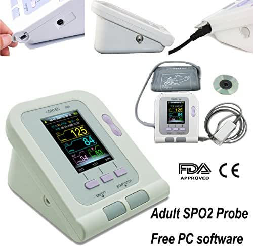 FDA Approved CONTEC08A Fully Automatic Upper Arm Blood Pressure Monitor Electronic Sphygmomanometer With Adult Probe
