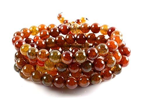 Stone Agate Semi Precious (Amandastone Handmade Semi-precious Stone Dragon Agate 108pcs Prayer Beads Bracelet)