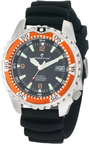 Momentum Men's 1M-DV06O1B M1 Deep 6 Orange Bezel Polyurethane Dive Watch