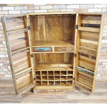 Style-A-Room Grande Vintage Envejecido Industrial marrón Multi Color Retro de Vino Bebidas