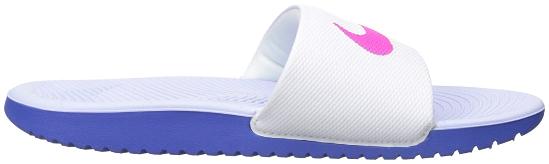 NIKE Women's Kawa Slide Sandal B01F47BM00 9 B(M) US|White/Fire Pink/Comet Blue/Aluminum