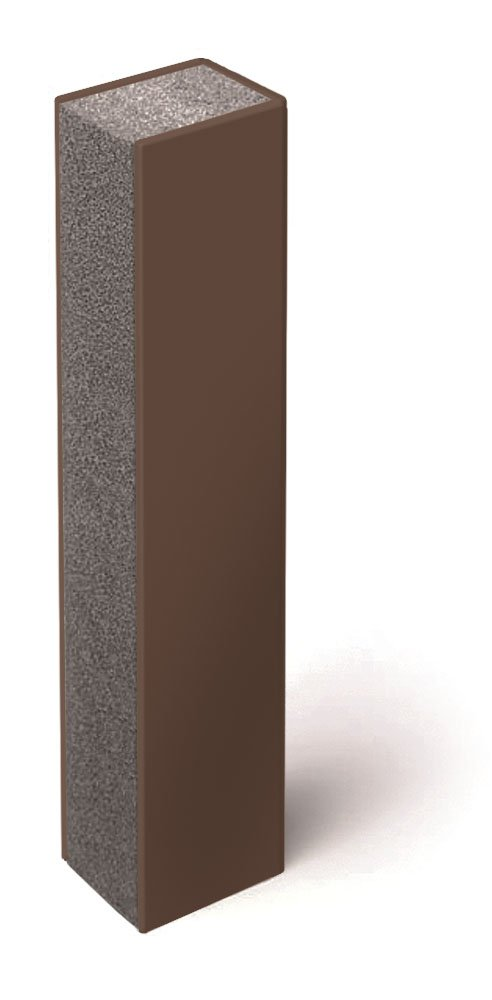 5 inch (125 mm), 3-Sided, Bronze Quietjoint Acoustic Partition Closure, 10 foot (3 m) length