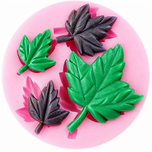 LALANG Silicone soap mold Sculpted Mould Candy Jello 3D Cake Mold with Rose Flower, Leaf, Shell,Angel Wing, Bowknot Style (Style 4)