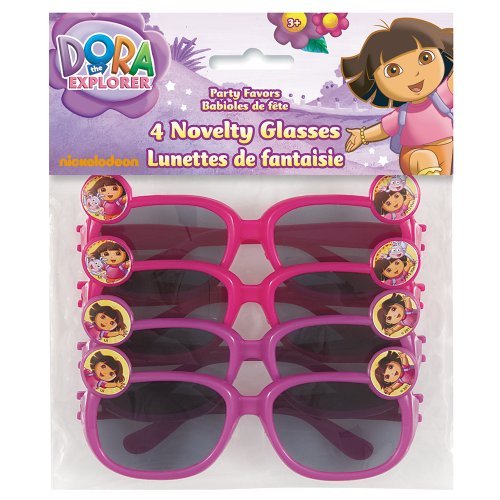 Dora the Explorer Novelty Glasses Party Favors, - Dora Sunglass